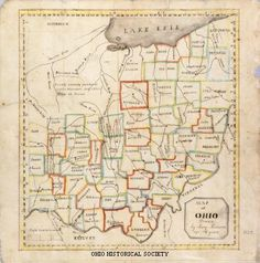 Map of Ohio drawn by Mary Munson in 1822.jpg