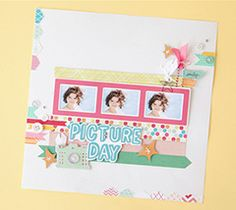 Scrapbook your favorite photo in this snap happy layout!  When I Was a Kid Cartridge.