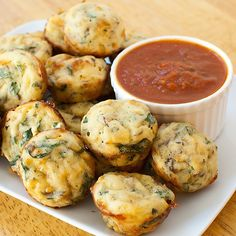 Spinach-Mushroom Pizza Bites are incredibly fast and easy to make. Perfect vegetarian munchies for Game Day (or any day)!