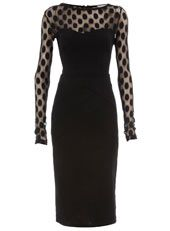 Black dot mesh dress