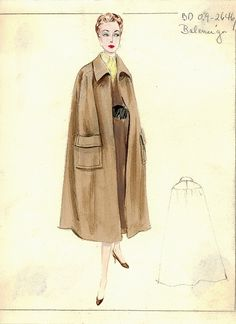 Balenciaga Cape by FIT Library Department of Special Collections, via Flickr
