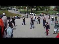 """ASL Flash Mob at the University of Cincinnati in support of Deaf Awareness week.  Organizers say that the song """"Waiting on the World to Change"""" by John Mayer, reflects efforts for the world to recognize and accept Deaf Culture and ASL (American Sign Language).  Wonderful!"""