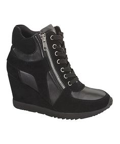 Love this Black Adriana Wedge on #zulily! #zulilyfinds