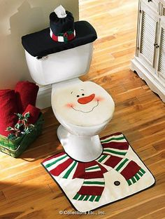 Cheap set for bathroom, Buy Quality set of directly from China cover covers Suppliers: 2016 Snowman Santa Toilet Seat Cover And Rug Set for Bathroom Christmas Decorations Set of 3 Adornos Navidad Natal Christmas Snowman, Winter Christmas, All Things Christmas, Christmas Holidays, Christmas Ornaments, Merry Christmas, Christmas Cover, Christmas Lights, Happy Holidays