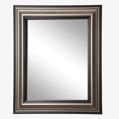 This wall mirror works wonders to seemingly expand space while defining a look that coordinates well with any style of decor. This antique smoked silver tone 3-inch frame features raised levels  adding depth to its shimmering mirror.