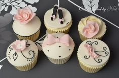 Black, pink and ivory cupcakes  Cake by Nivia