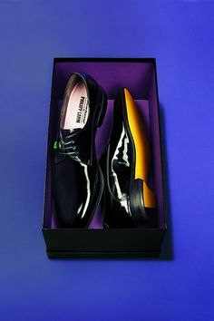 Diggin these patent-leather shoes, designed by Floris Van Bommel and Philipp Lahm.