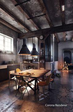 Eine hübsche Einrichtung mit industriellem Charme ;)