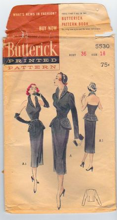 Butterick 5530 Vintage Wiggle Dress Sewing by TheStyleSpectrum