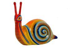 Mid-Century Sermel Tonala Jal Mexico Hand-Painted Papier Mache Snail