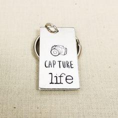 Capture LIfe Key Chain - Photography - Photographer Gift - Aluminum Key Chain