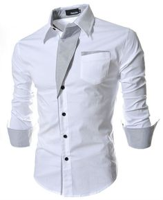 2015 brand new men shirt camisa social masculina casual slim fit mens dress shirts camisas chemise homme plus size M 3XL tops-in Casual Shirts from Men's Clothing & Accessories on Aliexpress.com | Alibaba Group