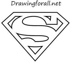 Superhero Coloring Pages: Superman Logo Logo Superman, Superman Cakes, Superman Symbol, Superman Clipart, Superman Coloring Pages, Free Coloring Pages, Coloring Sheets, Coloring Books, Superhero Logo Templates