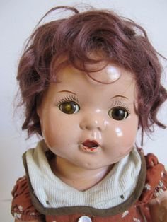 "1930's Vintage Antique Dream Baby DOLL, 12"" tall, ALL Composition Arranbee R&B."