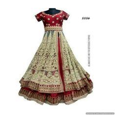Piramalls Multi Color Fancy Gown With Embroidered Work