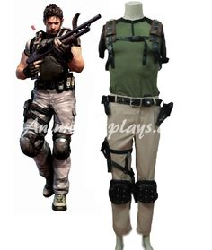 Resident Evil 5 Chris Cosplay Costume,Resident Evil Cosplay Costume,Party Cosplay Costume