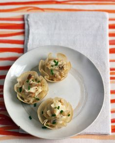 Wonton Cups with Cream Cheese and Chutney - Martha Stewart Recipes