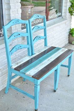 , Repurposed old chair ideas can vary quite a bit; in fact, they can be made into anything from a bench that you put on your porch to a bird bath or a p. , 15 Exciting Repurposed Old Chair Ideas You Can Make in a Day Refurbished Furniture, Repurposed Furniture, Pallet Furniture, Furniture Projects, Furniture Making, Furniture Makeover, Home Projects, Painted Furniture, Street Furniture
