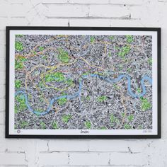 This was a really cool hand drawn map of London I saw online. It features a uniquely drawn rendition of all the boroughs, tube points, and bus ways in London. Truly a great piece of art.