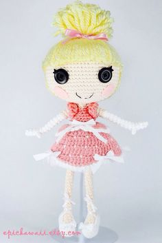 CUSTOM DOLL Lalaloopsy Amigurumi Doll by epickawaii on Etsy