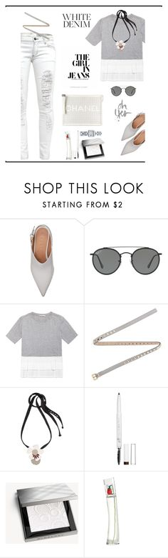 """Bright White: Summer Denim♥♥♥"" by marthalux ❤ liked on Polyvore featuring Ray-Ban, Valentino, Marni, Charlotte Russe, Burberry, Kenzo, Gucci, StreetStyle, Summer and summertime"