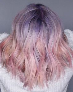 15 Best Ash Blonde Hair Colors of 2019 - Ombre, Highlights & Balayage - Style My Hairs Cute Hair Colors, Hair Color Purple, Hair Dye Colors, Cool Hair Color, Lavender Hair Colors, Unicorn Hair Color, Amazing Hair Color, Hair Colour Ideas, Pastel Hair Colour