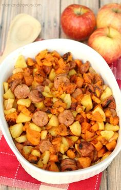 Fall Apple Sausage Paleo One Pan Dinner