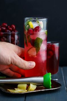 Okay, this drink would work any time of the year, however, these Christmas Cranberry Mojitos definitely break forth the Christmas spirit!