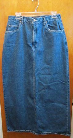 SONOMA Long Pencil Denim Skirt Modest Modesty SIZE 12 #Sonoma #StraightPencil #freeshipping #kohls #bestoffer #makeoffer