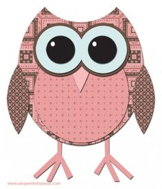 What a hoot! Owl paper piecing kit...