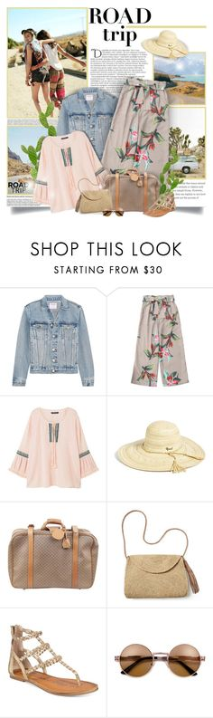 """""""Road Trip!"""" by chris101287 ❤ liked on Polyvore featuring Urban Outfitters, Levi's, Balmain, Frame, MANGO, Rip Curl, Gucci, Mar y Sol, American Rag Cie and floralprint"""