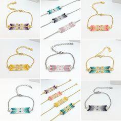 """59 mentions J'aime, 5 commentaires - Myriam Piraux (@kathlyn_bijoux) sur Instagram : """"Et bien sûr quelques bracelets en tissage miyuki. Lequel préférez vous ? #creatricedebijoux…"""""""