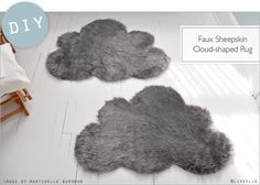 DIY: Faux Sheepkin CloudRugs - Home - Creature Comforts - daily inspiration, style, diy projects + freebies