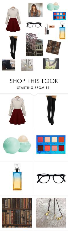 """""""Library date"""" by moodydee ❤ liked on Polyvore featuring Eos, Lime Crime, Calvin Klein and Andrew Martin"""