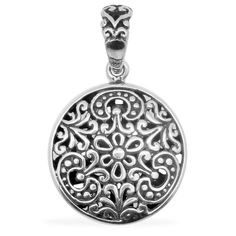 Liquidation Channel -  Affordable Royal Bali Collection Pendant without Chain in Sterling Silver Nickel Free
