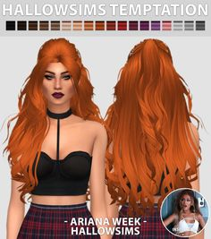 "hallowsims: "" HallowSims Temptation - Comes in 18 colours. - Best used with hairline. - Smooth bone assignment. - Hat compatible. - All LOD's. - Clay style. - * VERY High Poly * - Custom Ambient..."