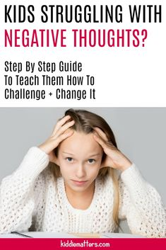 Negative self-talk can have a negative impact on children's self-esteem and self-confidence. Find out how these cognitive behavioral strategies can help children change their negative thinking and boost their self-esteem Positive Self Talk, Negative Self Talk, Negative Thoughts, Positive Mindset, Kids And Parenting, Parenting Hacks, Self Esteem Activities, Emotional Child, Activities For Teens