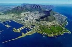 Cape Town South Africa from above...