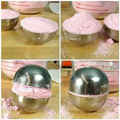 Mondo Bath Bomb Recipe Stainless Steel Bath Bomb Mold 16 oz.Citric Acid 32 oz. Baking Soda .75 oz.Pink Grapefruit Fragrance Oil Witch Hazel Red Mica ONE: Combine the 16 oz. of citric acid and 32 oz. baking soda in a large bowl and mix well. Use your fingers to break up any clumps. TWO: Once …