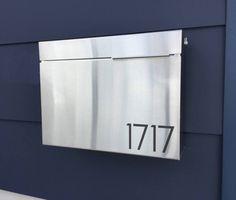 Larger Modern and contemporary mailbox - stainless steel design, Modern Mailbox, Wall Mounted mailbox - contemporary