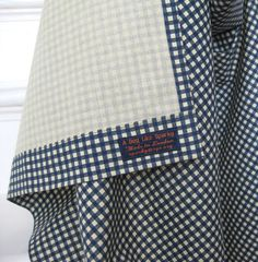 House Apron No 4. Dark Blue Gingham. Womens Small-Medium