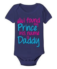 Navy 'My Prince Is Daddy' Bodysuit - Infant