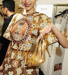 Dolce Gabbana winter 2014 fashion show backstage