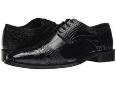 Stacy Adams - Garibaldi (Black) Men's Lace Up Cap Toe Shoes