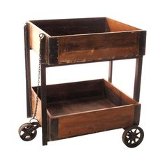Our reproduction fruit cart has you standing outside an old-fashioned railway station, trying to make a few coins from weary travelers with your goods. It's a really interesting, fun piece to add to yo...  Find the Choo Choo Fruit Cart, as seen in the The Foundry Collection at http://dotandbo.com/collections/the-foundry?utm_source=pinterest&utm_medium=organic&db_sku=104993