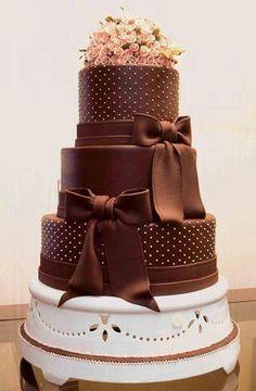 Indian Weddings Inspirations. Brown wedding cake. - California Weddings: http://www.pinterest.com/fresnoweddings/
