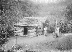 Cherokee cabin 1888. Old Photos - Cherokee | www.American-Tribes.com