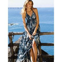 Beach Maxi  pack one pretty dress that can be wadded up in your luggage and still look great for a nice dinner