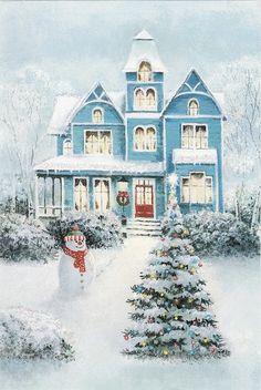 Weihnachten-Szene 7626