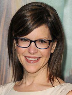 coiffure frange avec lunettes